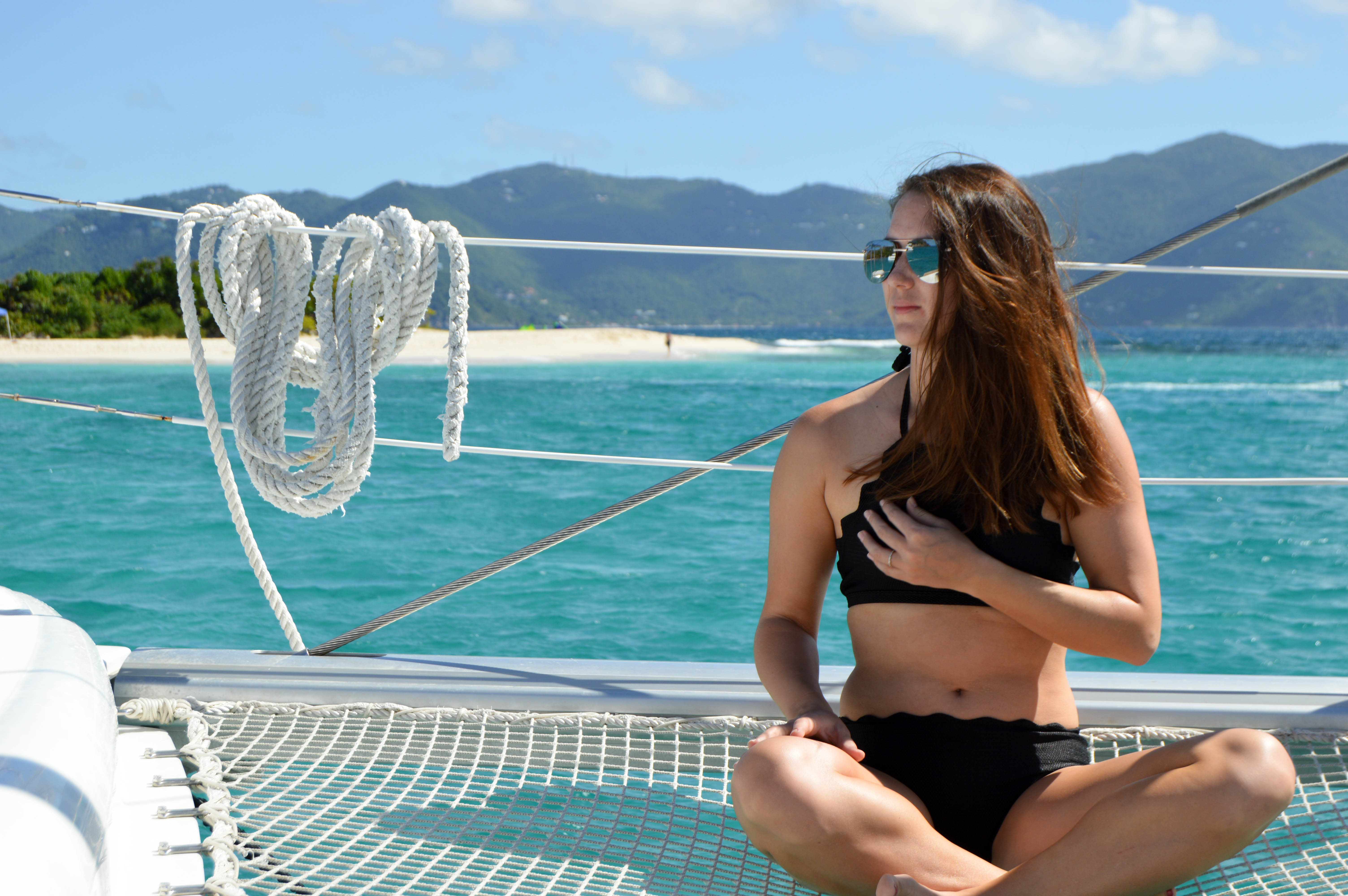 sandy spit - british virgin islands - catamaran charter