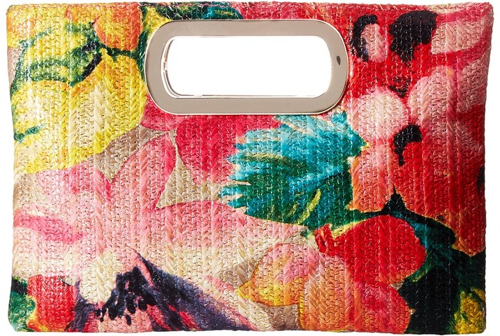 Jessica McClintock Tiffany Printed Floral Straw Clutch - Mother's Day Gift Ideas