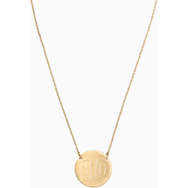 Stella & Dot - Signature Engraveable Disc Necklace - Mother's Day Gift Ideas