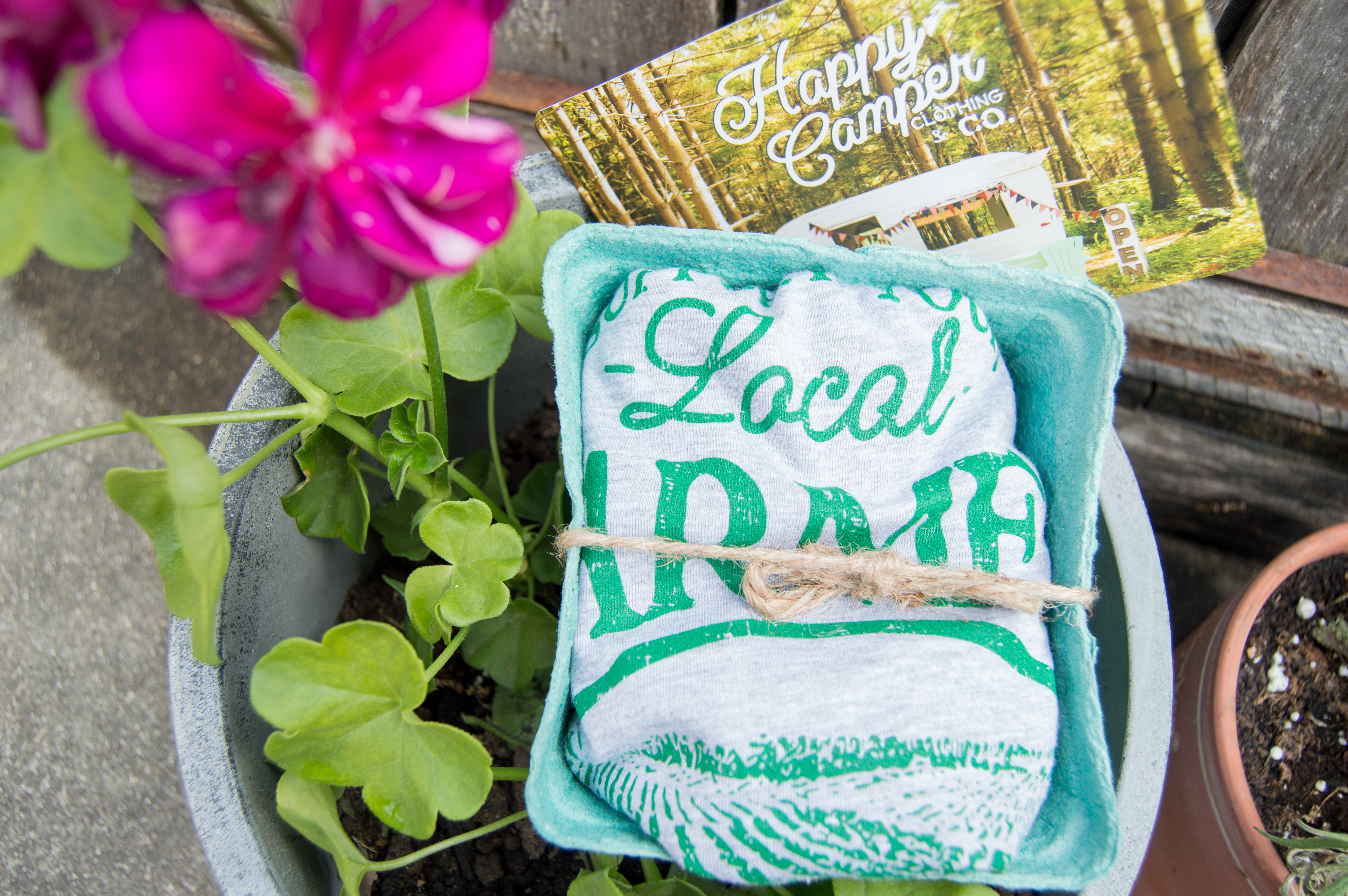 spring planting - Happy Camper Clothing Co. - Support Your Local Farmer's Tee