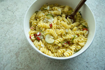summer pasta salad - easy side dishes