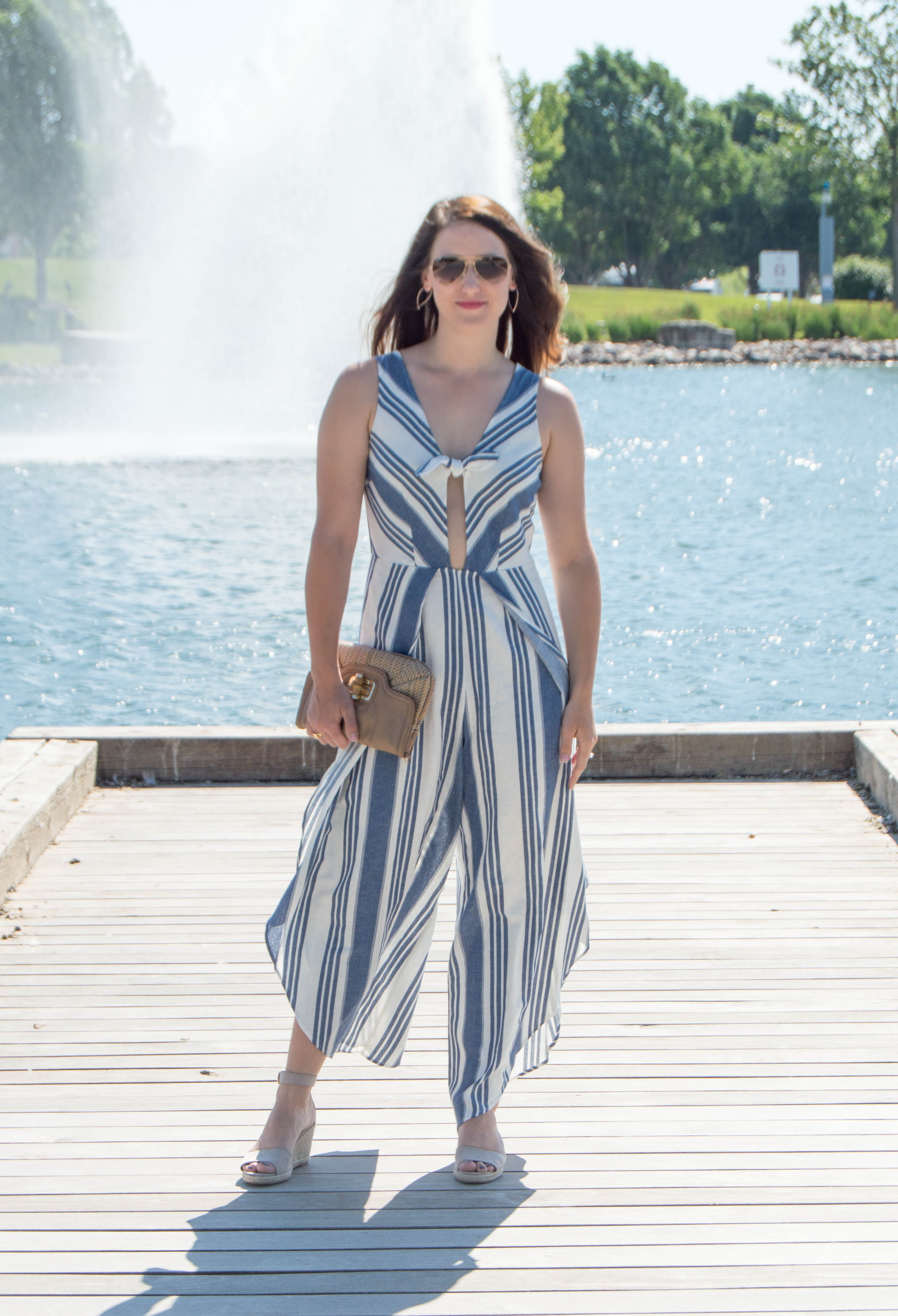 striped jumpsuit - summer fashion