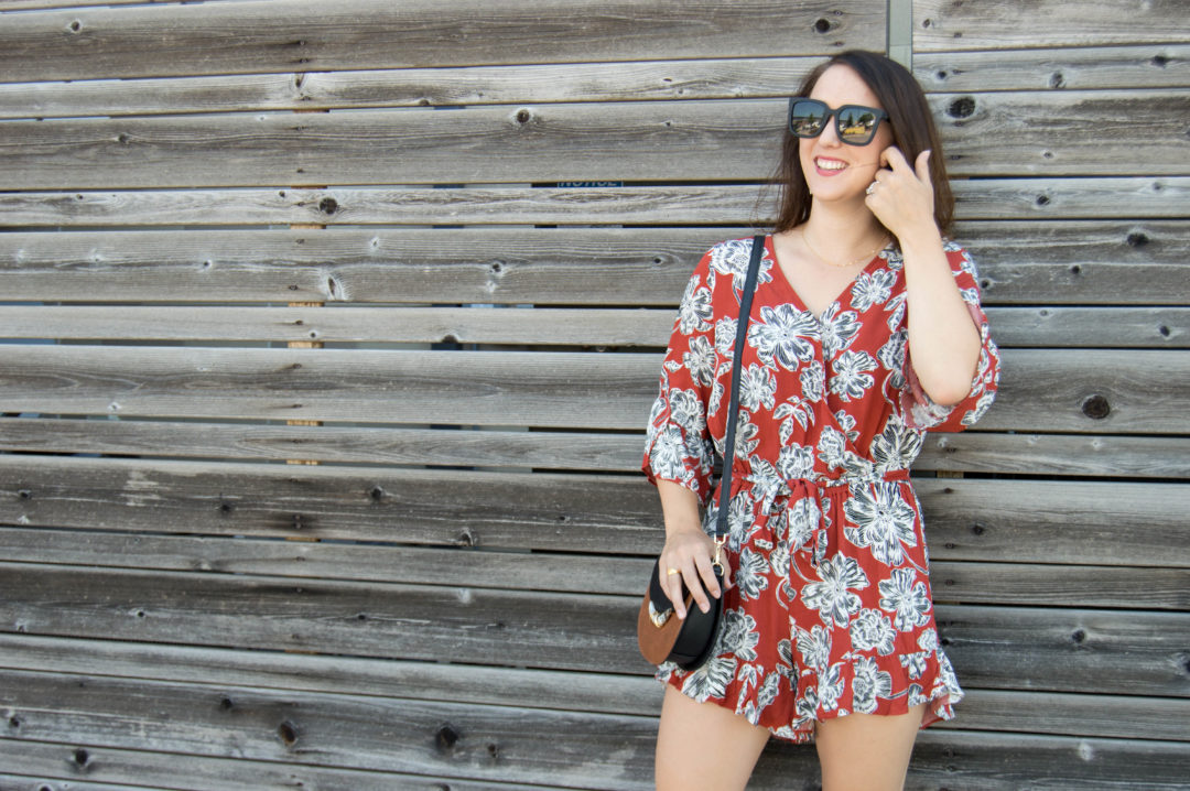 who what wear floral romper