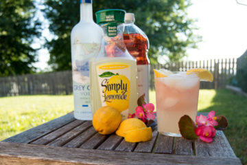 summer drink recipe - vodka lemonade