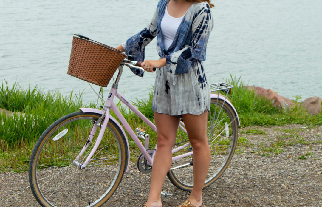 long-sleeved romper - tie dye romper
