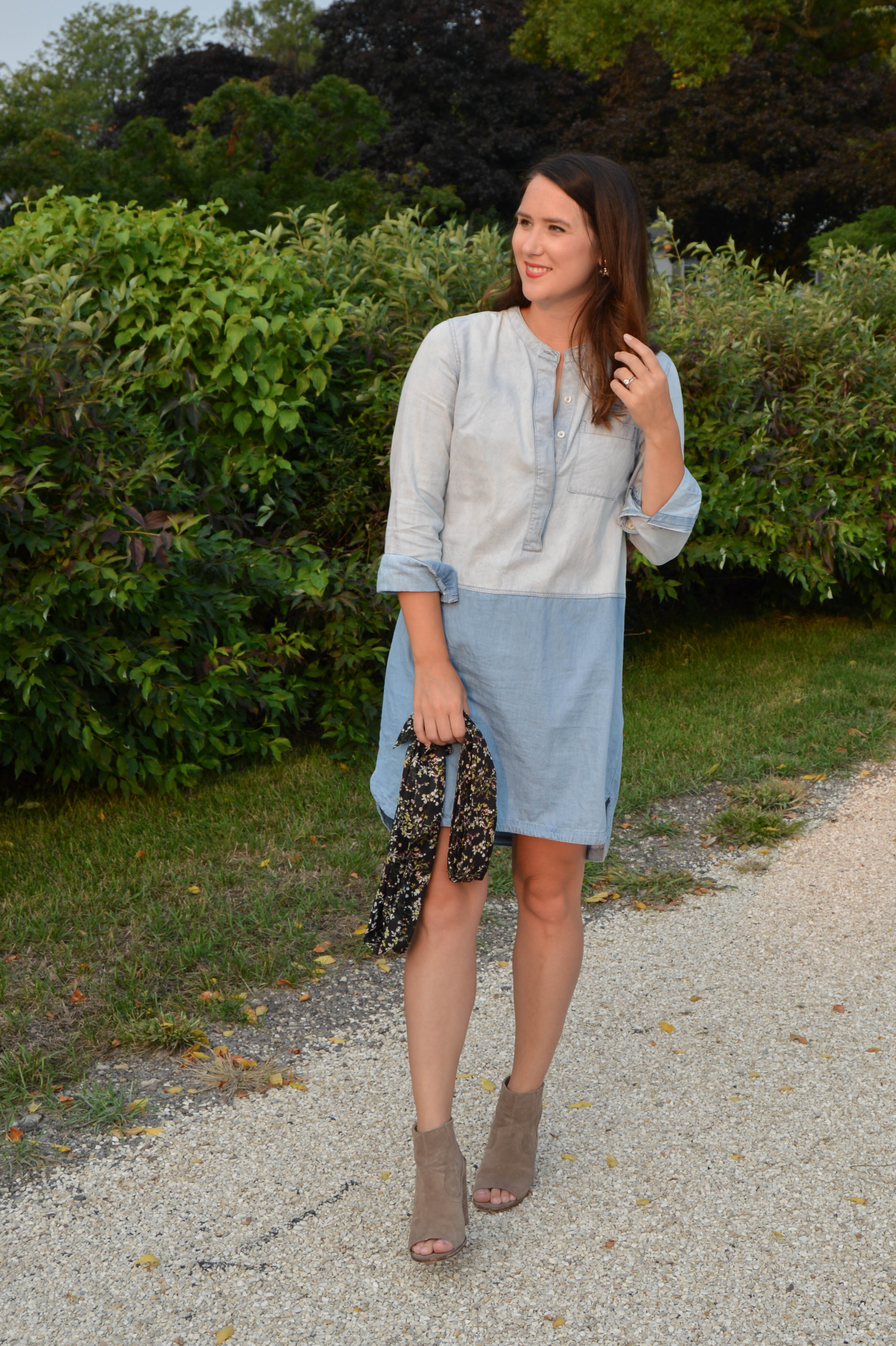denim dress - women's fall fashion