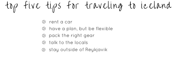 top five iceland travel tips